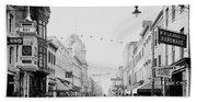 King Street In Charleston South Carolina Circa 1910 Beach Towel