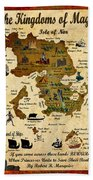 Kingdoms Of Magic Battle Map Beach Towel