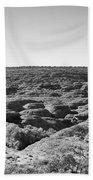 Kings Canyon Black And White Beach Towel