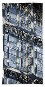 Kings Cross St Pancras Windows Beach Towel