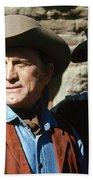 Kirk Douglas Johnny Cash A Gunfight  Old Tucson Arizona 1971 Beach Towel