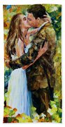 Kiss In The Woods Beach Towel
