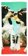 Kiss Me - Cocker Spaniel Art By Sharon Cummings Beach Towel by Sharon Cummings