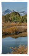 Kiss Of Fall In The Grand Tetons Beach Sheet