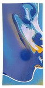 Kiss Series Blues And Yellows Beach Towel