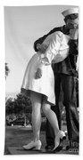 Kissing Sailor And Nurse Beach Towel