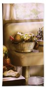 Kitchen - A 1930's Kitchen  Beach Towel by Mike Savad