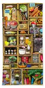 Kitchen Cupboard Beach Towel by Colin Thompson