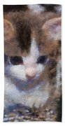 Kitty Photo Art 02 Beach Towel