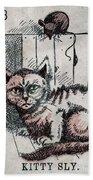 Kitty Sly Beach Towel