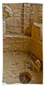 Kiva With Sipapu In Spruce Tree House On Chapin Mesa In Mesa Verde National Park-colorado Beach Towel
