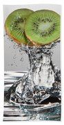 Kiwi Freshsplash Beach Towel by Steve Gadomski