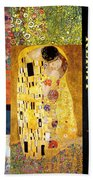 Klimt Collage Beach Towel