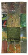 Klimt Landscapes Collage Beach Towel