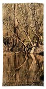 Knees And Reflections Beach Towel