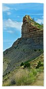 Knife Edge Road Overlooking Montezuma Valley In Mesa Verde National Park-colorado  Beach Towel