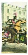 Knights Jousting Beach Towel