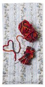 Knitted With Love Beach Towel