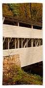 Knox Bridge In Autumn Beach Towel