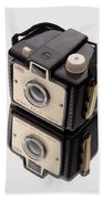 Kodak Brownie Bullet Camera Mirror Image Beach Towel