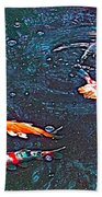 Koi 3 Beach Towel