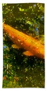 Koi Fish 1 Beach Sheet