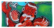 Koi Fish And Water Lily Beach Towel