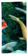 Koi Pond 2 Beach Towel