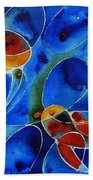 Koi Pond 2 - Liquid Fish Love Art Beach Towel