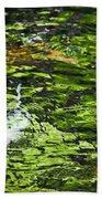 Koi Pond Beach Towel