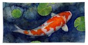 Koi Pond Beach Towel