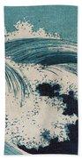 Konen Uehara Waves Beach Towel by Georgia Fowler