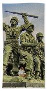 Korean War Veterans Memorial South Korea Beach Towel