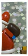 Kris Kringle Beach Towel by Juli Scalzi