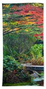 Kubota Gardens In Autumn Beach Sheet
