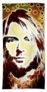 Kurt Cobain Digital Painting Beach Towel