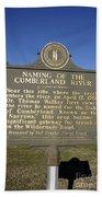 Ky-2045 Naming Of The Cumberland River Beach Towel