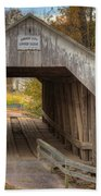 Ky Hillsboro Or Grange City Covered Bridge Beach Towel