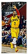 Kyrie Irving Beach Towel by Florian Rodarte