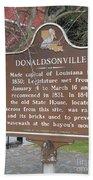 La-032 Donaldsonville Beach Towel