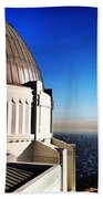 La Griffith Observatory Afternoon Beach Towel