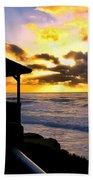 La Jolla At Sunset By Diana Sainz Beach Towel by Diana Sainz