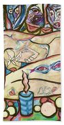 La Ofrenda A Yemanja - Version 02 Beach Towel