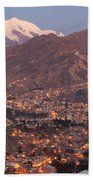 La Paz Skyline At Sundown Beach Towel