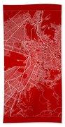 La Paz  Street Map - La Paz Bolivia Road Map Art On Color Beach Towel