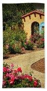 La Posada Gardens In Winslow Arizona Beach Towel