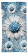 La Ronde Des Marguerites - Blue V02 Beach Towel by Variance Collections
