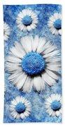 La Ronde Des Marguerites - Blue V05 Beach Towel