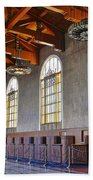 Los Angeles Union Station At Its 75th Anniversary Beach Towel