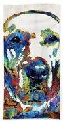 Labrador Retriever Art - Play With Me - By Sharon Cummings Beach Sheet